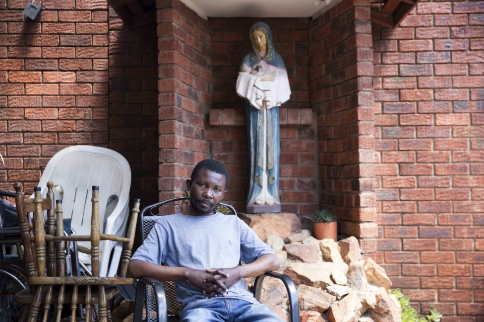 27 February 2019: Assumani Matondo Nibizi, 33, from the DRC. He is waiting to die at Nazareth House in Yeoville. His kidneys have failed and he has been denied treatment by local hospitals.
