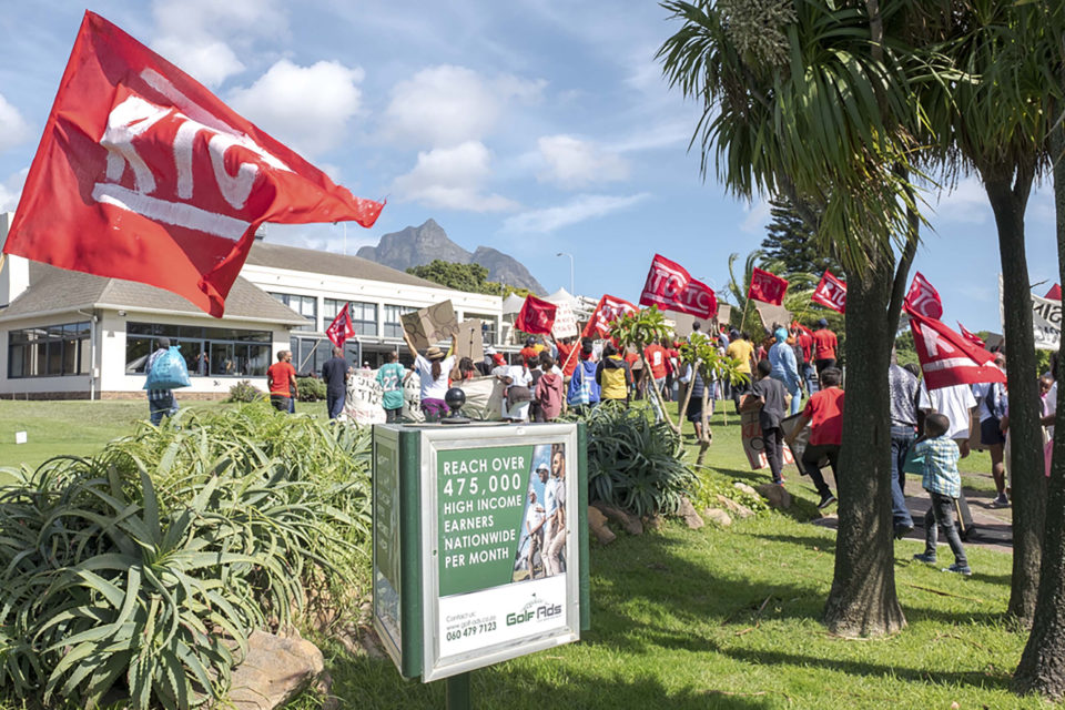 21 March 2019: Land and housing movement Reclaim the City occupied Rondebosch Golf Course on Human Rights Day in protest against the City of Cape Town's failure to redistribute public land for affordable housing.