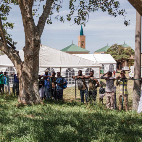 29 March 2019: Migrants have taken refuge at the Sherwood Park in Durban after they were displaced during xenophobic attacks.