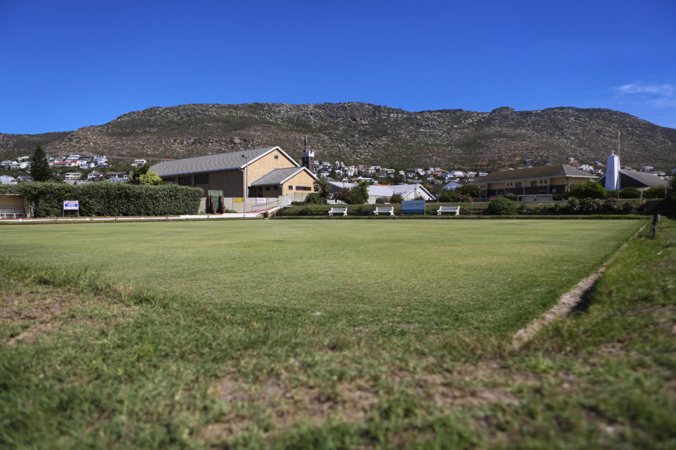 2 April 2019: A view of the bowling green at the Fish Hoek Bowling Club near Cape Town.