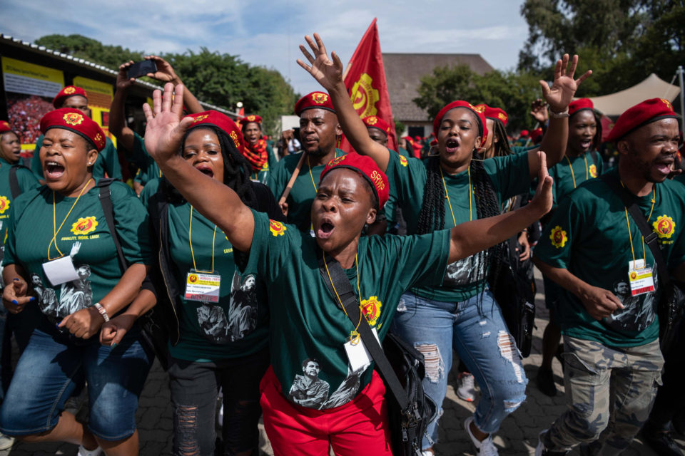 4 April 2019: Members of the Socialist Revolutionary Workers' Party at the Birchwood Hotel in Boksburg during the launch of the party.