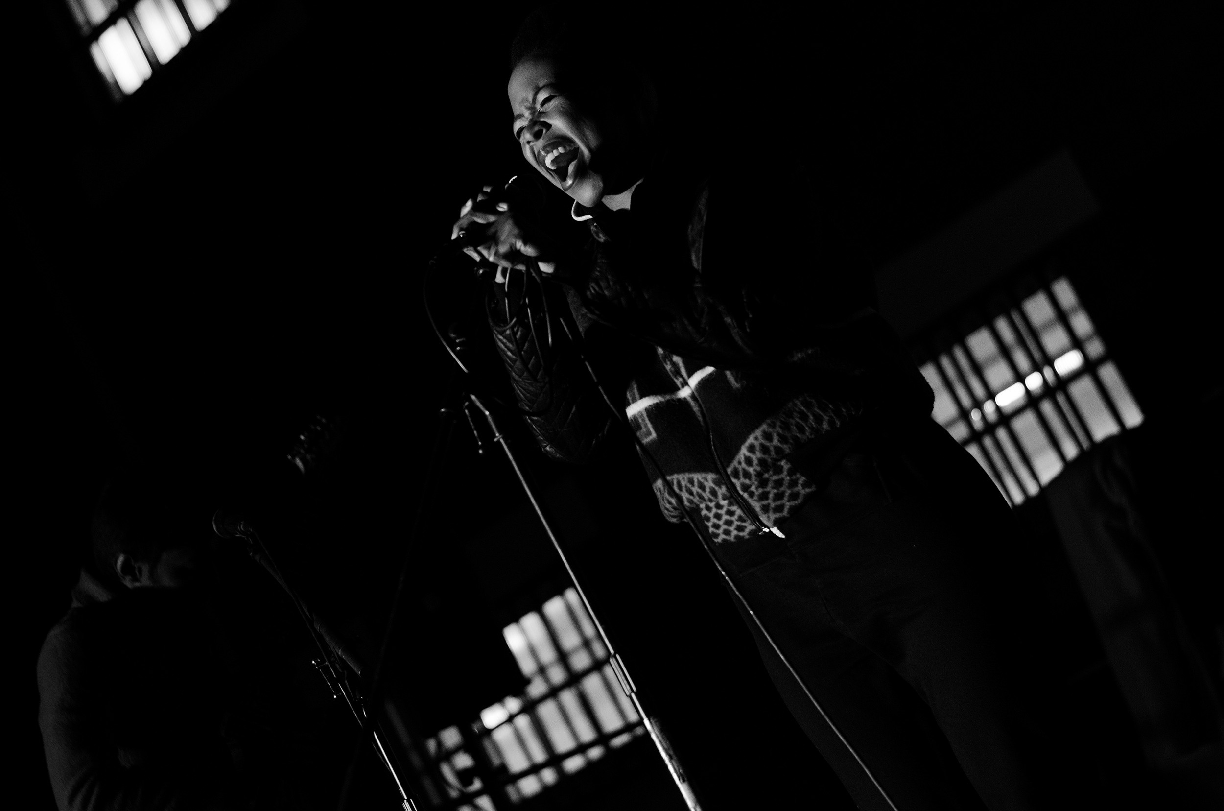 14 June 2014: Nosisi Ngakane performing as a guest singer with The Brother Moves On at the Basha Uhuru Freedom Festival at Constitution Hill in Joburg.