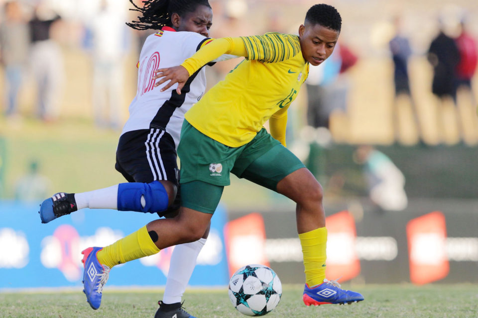 Refiloe Jane during the COSAFA Womens Championship semi-final match between South Africa and Uganda at Wolfson Stadium, Port Elizabeth, South Africa. Photo:Richard Huggard/Gallo Images.