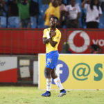 27 February 2019: Phakamani Mahlambi of Mamelodi Sundowns celebrates his goal during the Absa Premiership match against Cape Town City at Loftus Versfeld in Tshwane. (Photograph by Lefty Shivambu/Gallo Images)