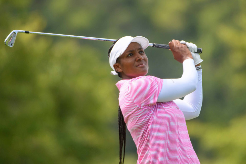 17 February 2019: Nobuhle Dlamini in action on the third day of the annual Dimension Data Ladies Pro-Am at Fancourt's Outeniqua golf course in George. (Photograph by Thinus Maritz/Sunshine Tour/Gallo Images)