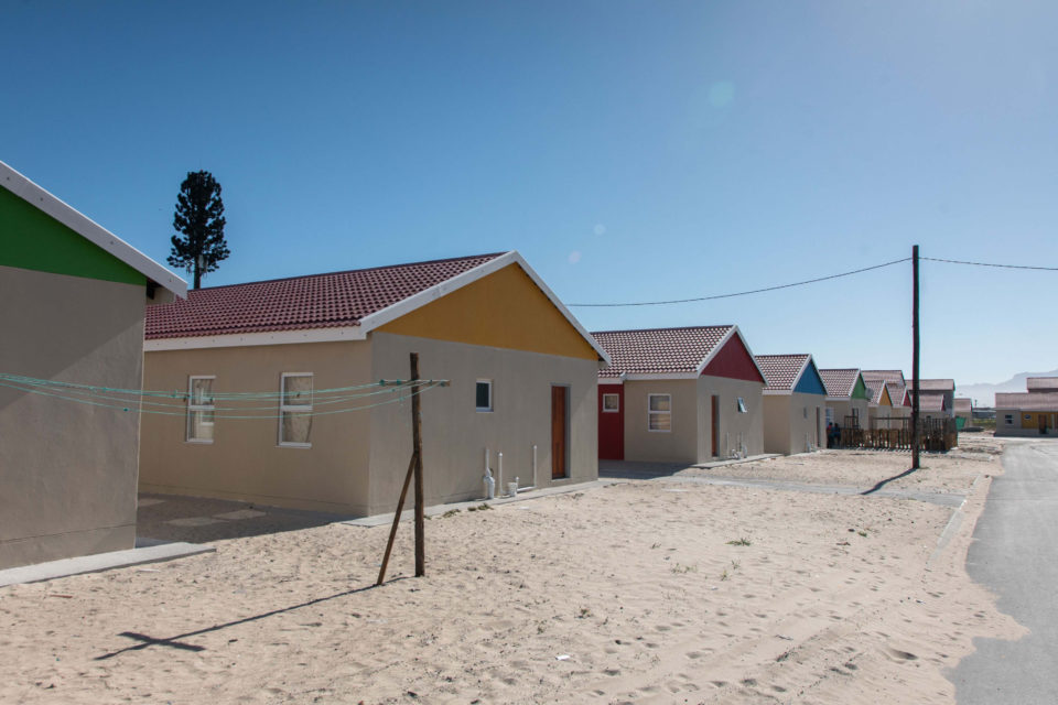 23 November 2018: RDP houses in The Hague, where many Blikkiesdorp residents will be moved as part of a new housing project.