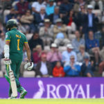 Hashim Amla walks off dejected after being dismissed during the Royal London ODI match between England and South Africa at The Ageas Bowl on May 27, 2017 in Southampton, England. (Photo by Charlie Crowhurst/Getty Images)