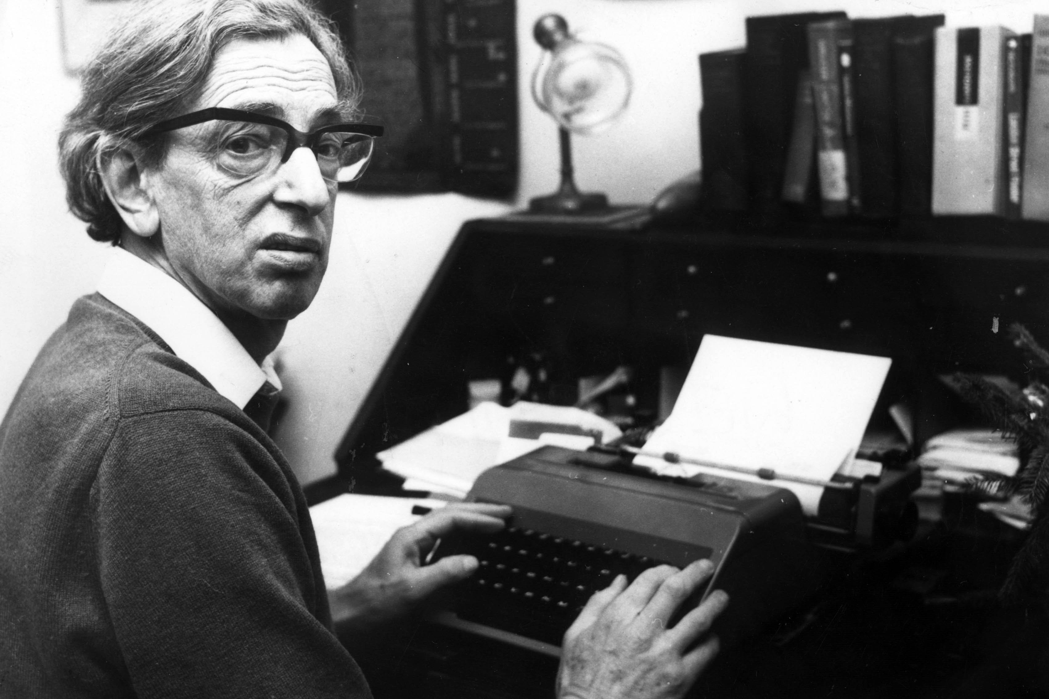 January 1976: British historian Eric Hobsbawm was totally dedicated to amassing knowledge and thinking deeply about broad historical trends, resulting in accessible and elegantly written books. (Photograph by Wesley/Keystone/Getty Images)