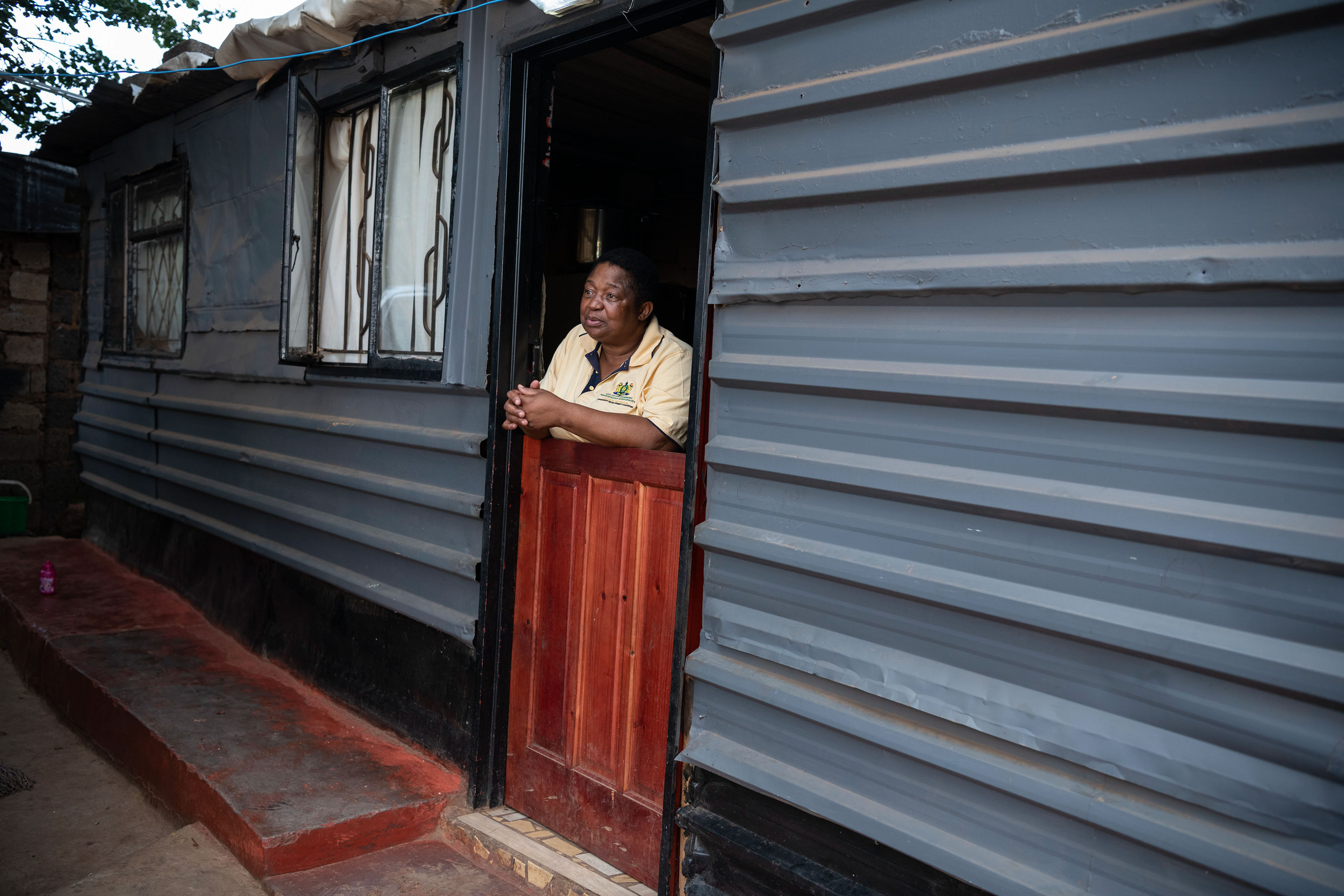 2 April 2019: Long-time activist Maureen Mnisi at her home in Protea South, a shack settlement in Soweto, Johannesburg.
