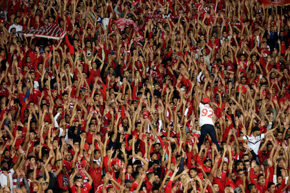 4 November 2017: A human sea of fans at the Mohammed V Stadium in Casablanca, Morocco, during the CAF Champions League Final between Wydad Casablanca and Al Ahly of Egypt. (Photograph by Youssef Boudlal/Reuters)
