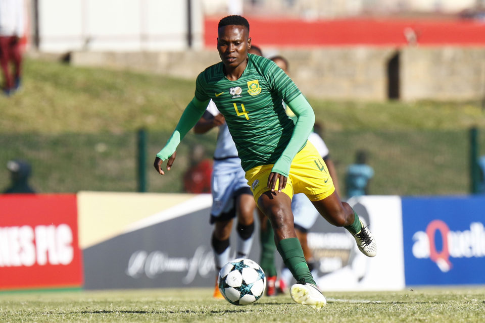 14 September 2018: Noko Matlou of Banyana Banyana during the Cosafa Women's Championship match between South Africa and Botswana at Wolfson Stadium in Port Elizabeth. (Photo by Michael Sheehan/Gallo Images)