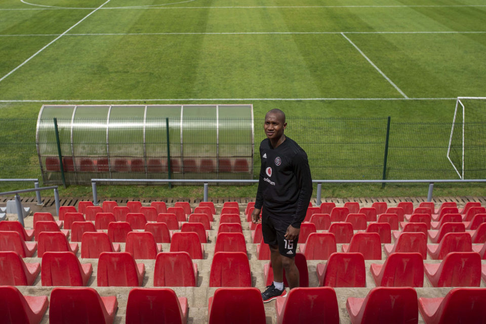 22 October 2018: Orlando Pirates goalkeeper Jackson Mabokgwane at the team's training facility at Rand Stadium in Johannesburg.