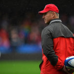 14 October 2018: Johan Ackermann, Head Coach of Gloucester Rugby, at the Heineken Champions Cup match between Gloucester Rugby and Castres Olympique, at Kingsholm Stadium. (Photograph by Dan Mullan/Getty Images)