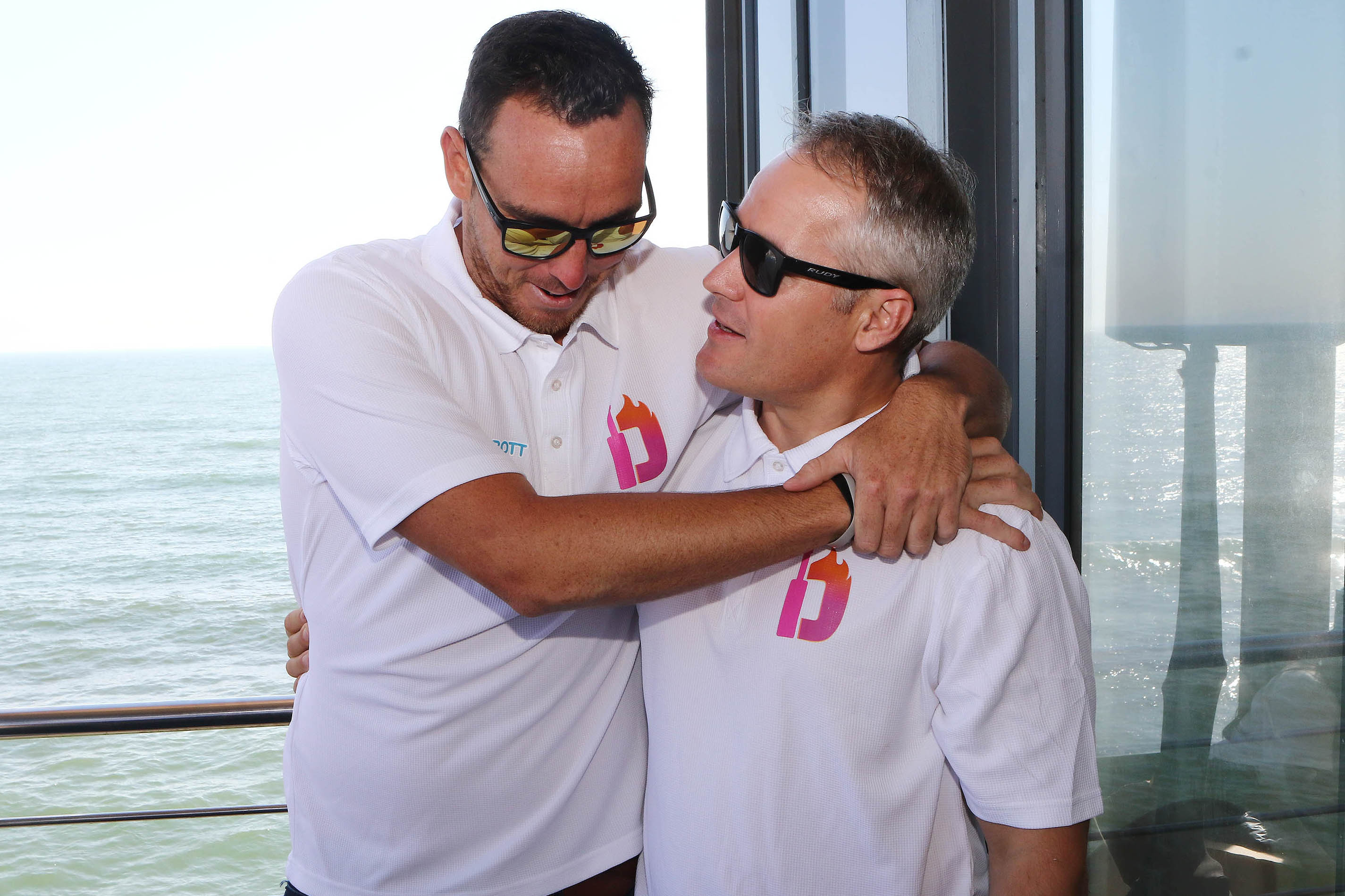 26 October 2018: Kyle Abbott with Morne van Wyk during the Durban Heat media launch at Moya Ushaka Pier Bar in Durban. (Photograph by Anesh Debiky/Gallo Images)