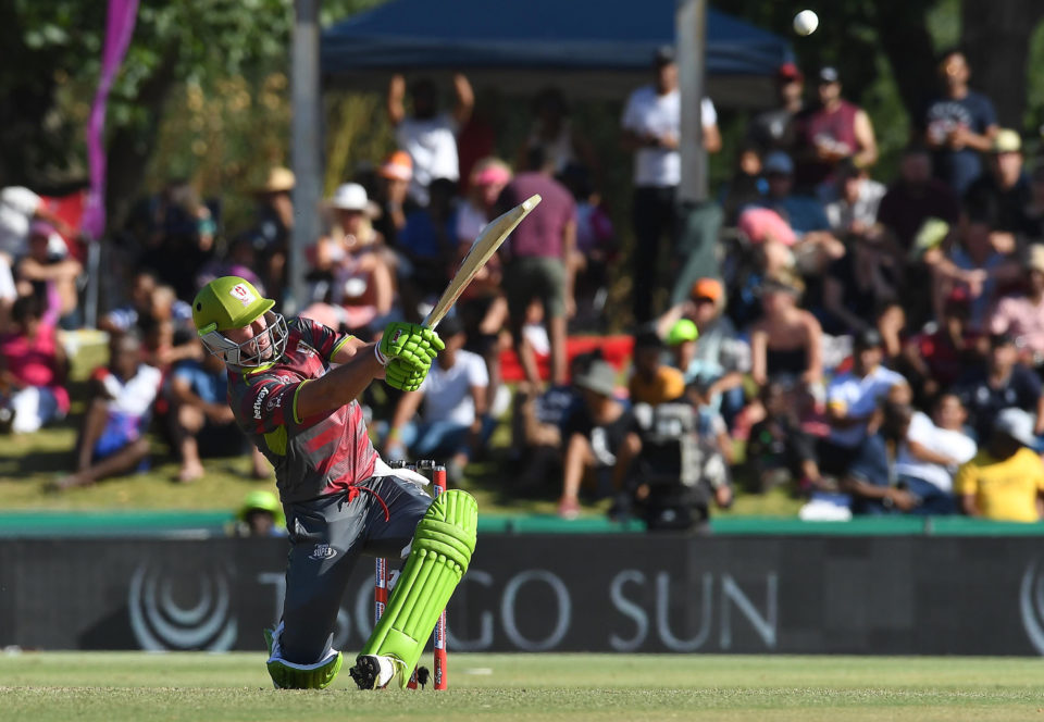 18 November 2018: AB de Villiers of the Tshwane Spartans during the Mzansi Super League match between Paarl Rocks and Tshwane Spartans at Eurolux Boland Park in Paarl, South Africa. (Photograph by Ashley Vlotman/Gallo Images)