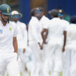 23 July 2018: Proteas' Theunis de Bruyn walks off after being dismissed on day four of the second Test match between Sri Lanka and South Africa at Sinhalese Sports Club Ground in Colombo. (Photograph by Isuru Sameera Peiris/AFP/Gallo Images)