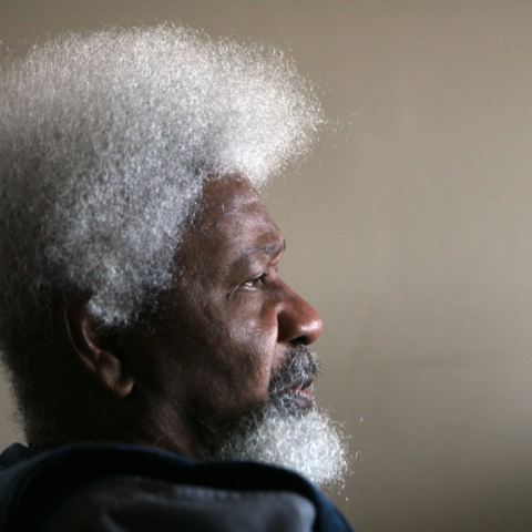Nobel Literature Laureate Wole Soyinka speaks during an interview at his home in Upland, California. (Photograph by Ann Johansson/Corbis via Getty Images)