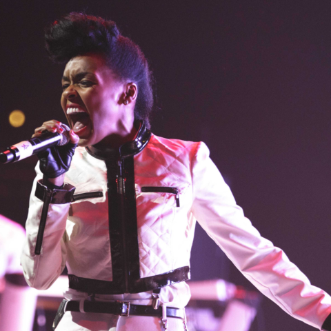 12 November 2013: Janelle Mone performs at Austin's ACL Live at Moody Theater in Austin Texas. (Photograph by Suzanne Cordeiro/Corbis via Getty Images)