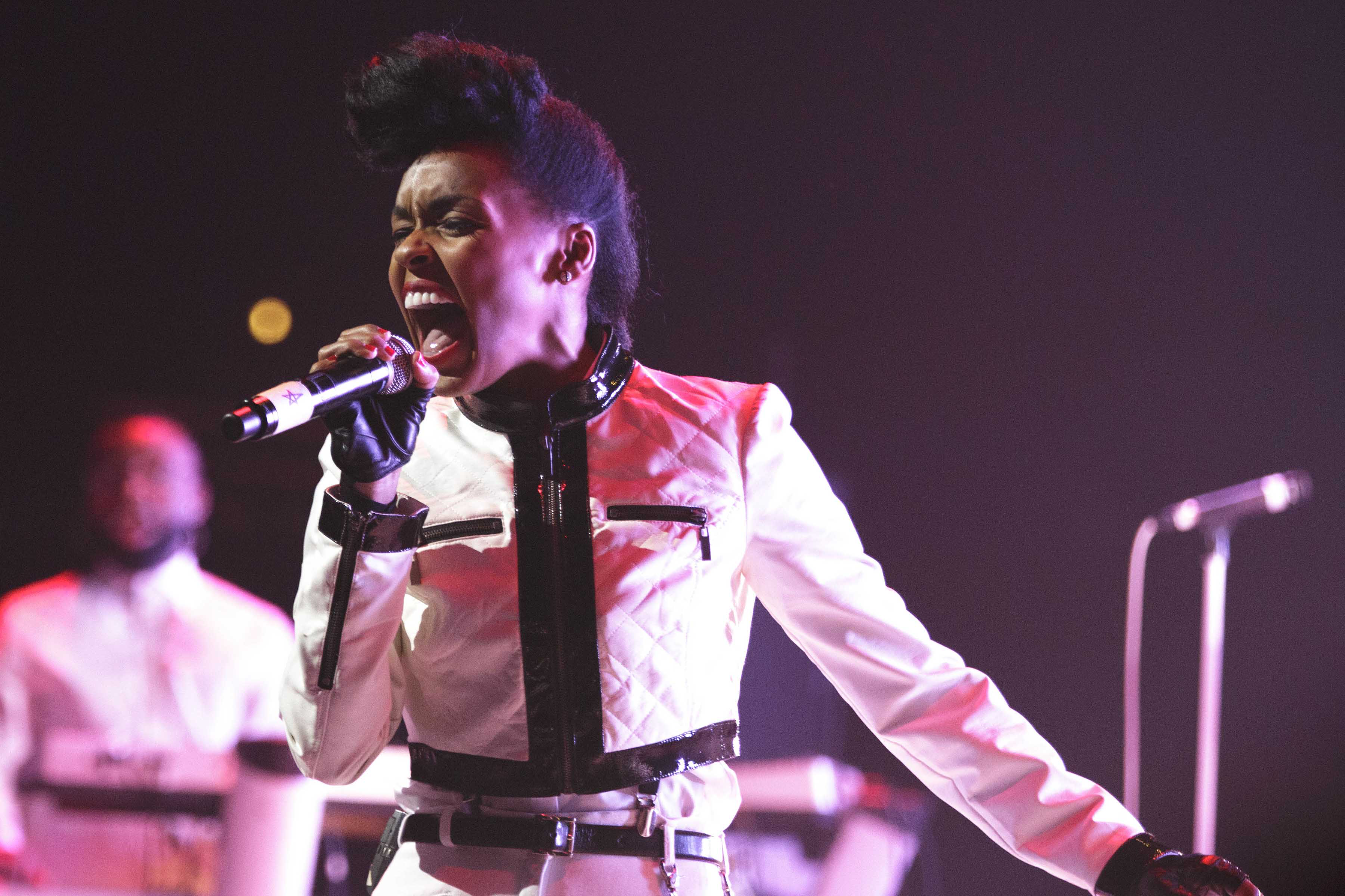 12 November 2013: Janelle Mon᝝e performs at Austin's ACL Live at Moody Theater in Austin Texas. (Photograph by Suzanne Cordeiro/Corbis via Getty Images)