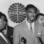 2 August 1960: Congo Prime Minister Patrice Lumumba at New York airport before leaving for London. He said only Belgian troops withdrawing from the Congo would avert the crisis there. (Photograph by Pictorial Parade/Archive Photos/Getty Images)