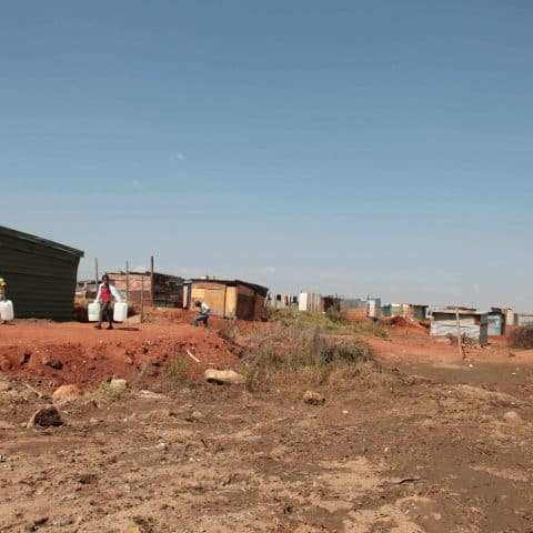 18 April 2019: An empty site that was home to a large number of Gabon shack dwellers.