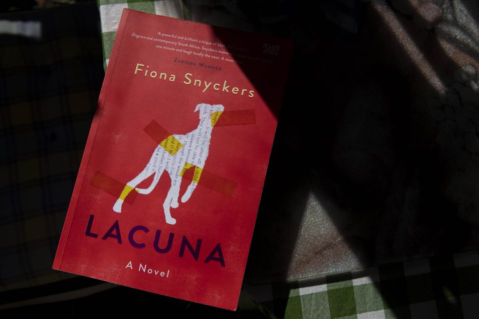 14 May 2019: Lacuna, a novel by Fiona Snykers. Picture: Ihsaan Haffejee