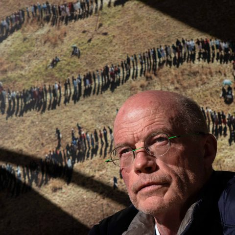 9 May 2019: Denis Farrell, the Associated Press photographer who shot the iconic aerial photograph of South Africans voting on 27 April 1994. (Photograph by James Oatway)