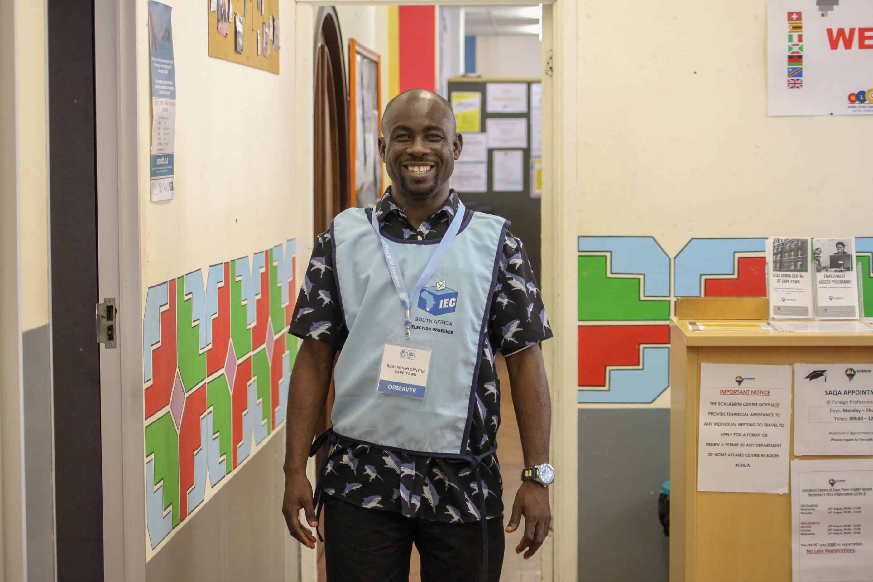 7 May 2019: Christian Oluchi Achogbuo from Nigeria has lived in South Africa for 13 years. He said its democracy is not perfect, but more accountable and transparent in a way that eludes most African countries. (Photograph courtesy of The Scalabrini Centre of Cape Town)