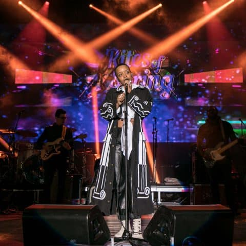 12 April 2019: Jamila Woods performing at the Rites of Spring music festival at Vanderbilt University in Nashville, Tennessee, in the United States. (Photograph by Danielle Del Valle/Getty Images)