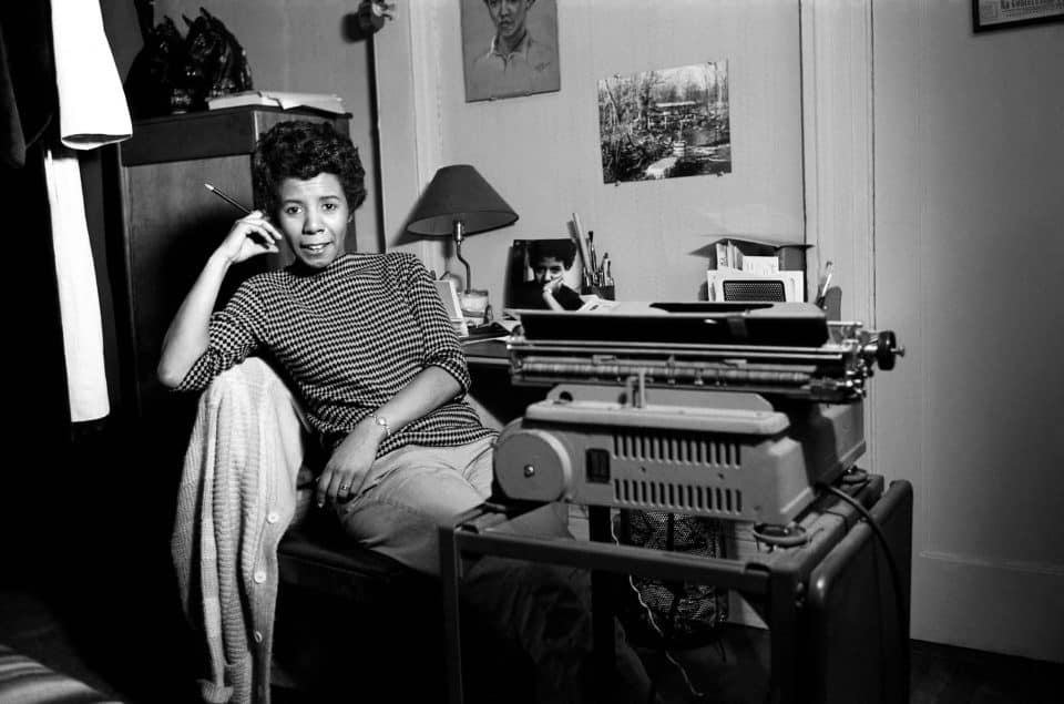 1959: Writer and playwright Lorraine Hansberry poses for a portrait in her apartment in New York City. (Photograph by David Attie/Getty Images)