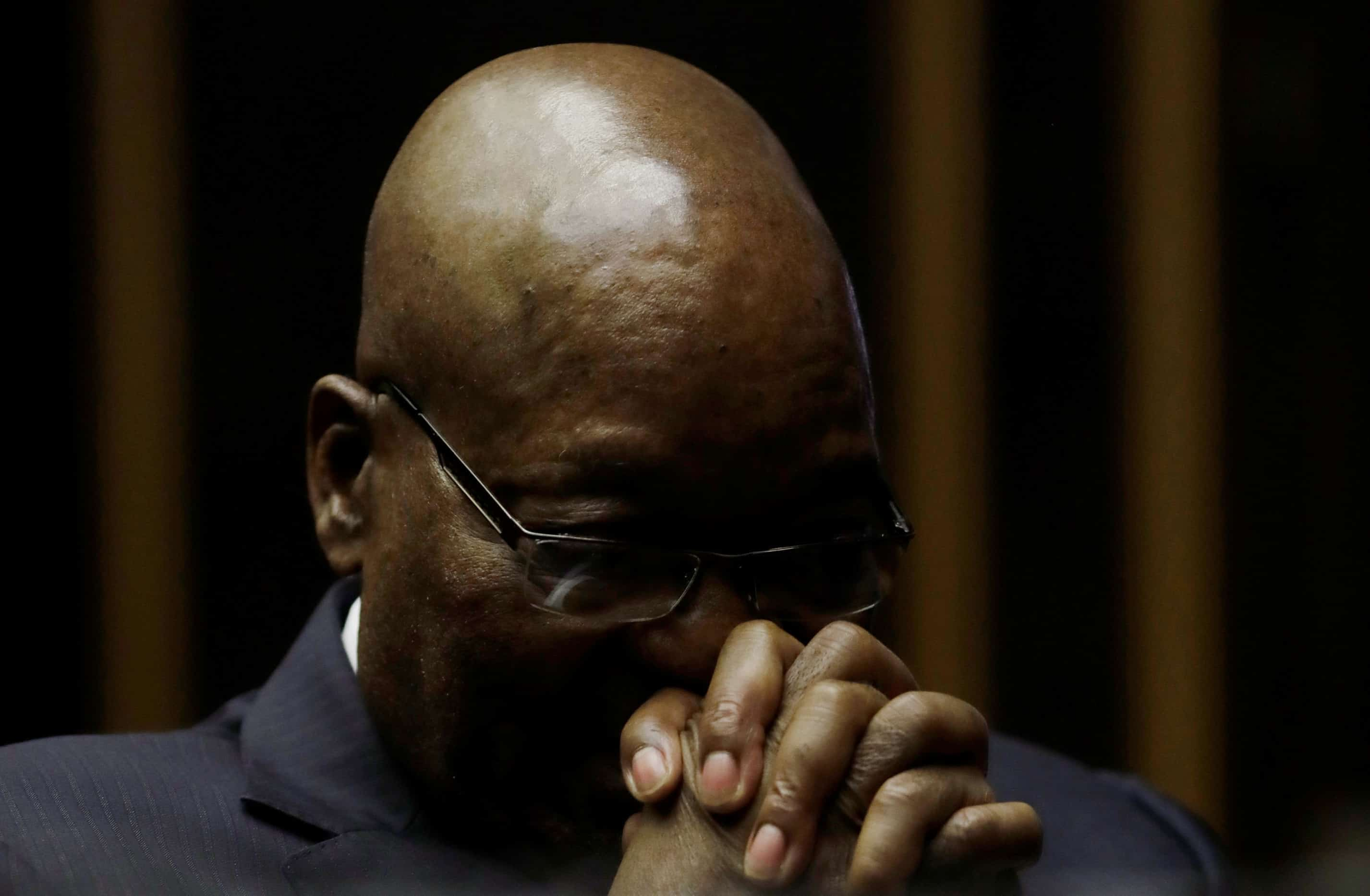 24 May 2019: Former South African president Jacob Zuma in court facing charges of fraud, corruption and racketeering from more than 13 years earlier. (Photograph by Themba Hadebe/Pool via Reuters)