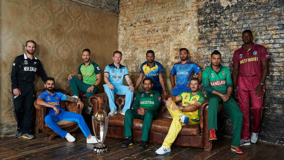 23 May 2019: The 10 captains at the ICC Cricket World Cup in London. (From left) Kane Williamson, Virat Kohli, Faf du Plessis, Eoin Morgan, Dimuth Karunaratne (standing), Sarfaraz Ahmed (sitting), Gulbadin Naib, Aaron Finch, Mashrafe Mortaza and Jason Holder. (Photograph courtesy of the International Cricket Council)