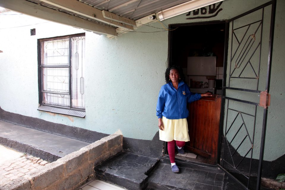 24 May 2019: Nokwazi Mbatha has lived in her house for 22 years. Residents in support of reblocking in the area threatened to demolish her property if she did not agree to it.