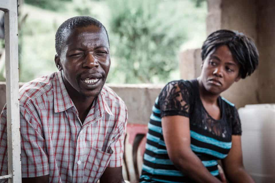23 March 2019: Syaphila and Bonisiwe Hlophe, the father and mother of 13-year-old Sboniso, who has autism, at their home in Kwanyuswa.