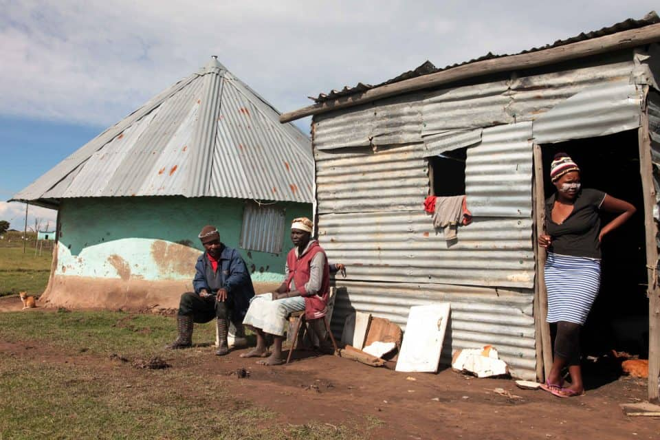 25 April 2019: Jack Gemetana, 65, Nomathemba Ndlwayivulwa, 55, and Busisiwe Ndlwayivulwa, 28, live opposite the home of UDM leader Bantu Holomisa in Mqanduli.