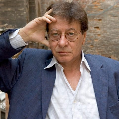 2005: Palestinian poet, writer and novelist Mahmoud Darwish in Turin, Italy. (Photograph by Leonardo Cendamo/Getty Images)