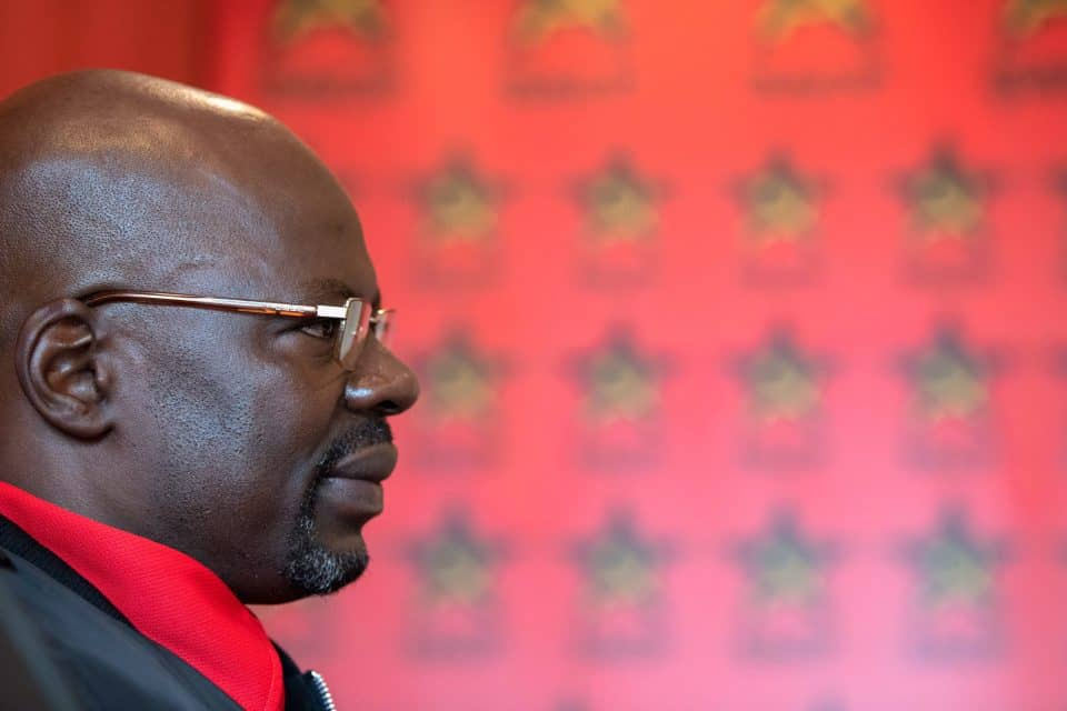 12 April 2019: The first deputy general secretary of the South African Communist Party, Solly Mapaila, at the SACP offices in Braamfontein, Johannesburg.