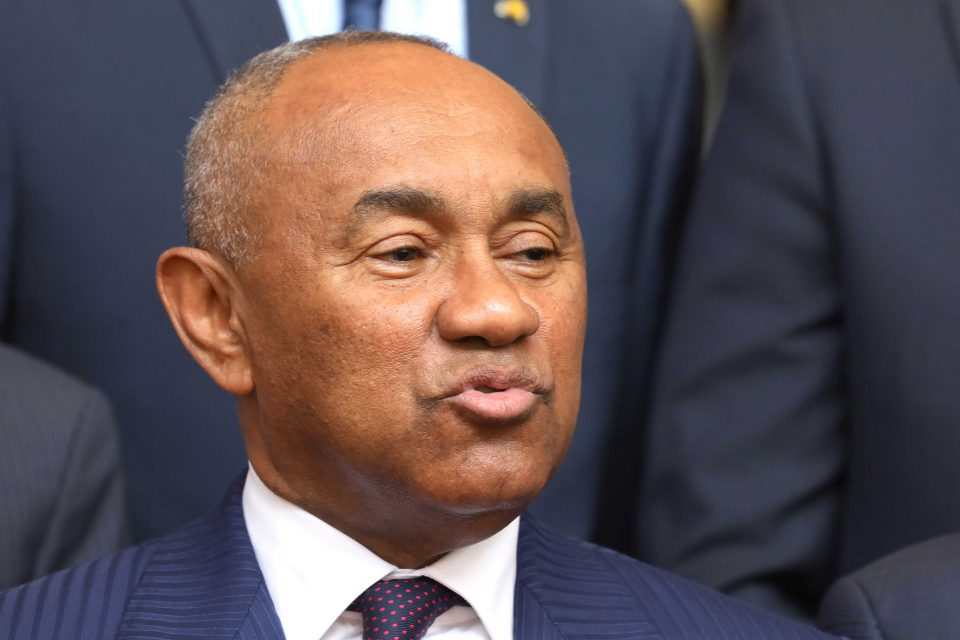 29 January 2019: CAF president Ahmad Ahmad speaking to the press at the presidential palace in Abidjan, Ivory Coast. (Photograph by Reuters/Thierry Gouegnon)