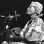 24 February 1988: Zimbabwean musician Stella Chiweshe performs at the Melkweg in Amsterdam, Netherlands. (Photograph by Frans Schellekens/Redferns)