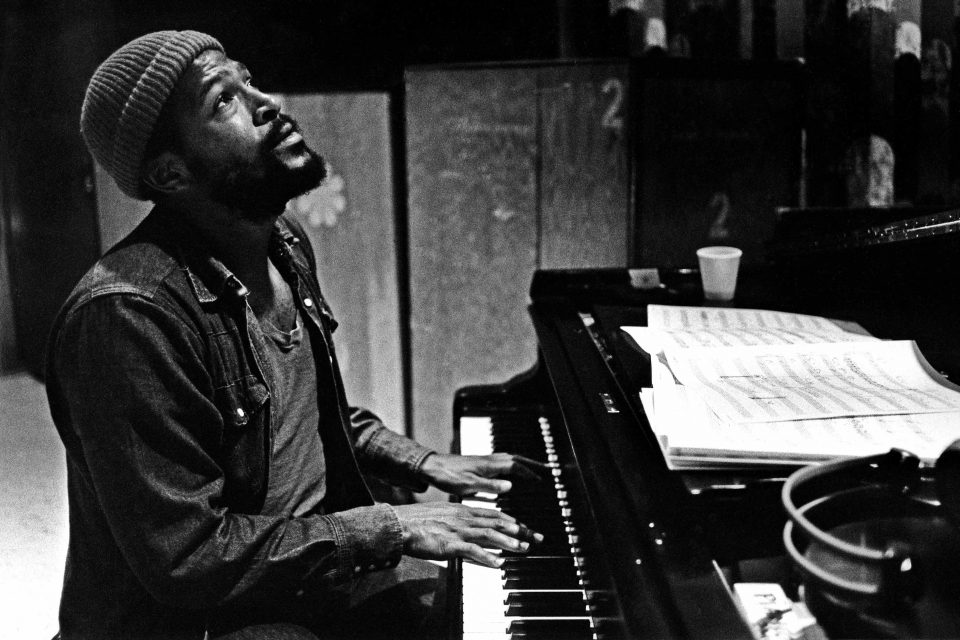 1973: Soul singer and songwriter Marvin Gaye at Golden West Studios in Los Angeles, California. (Photograph by Jim Britt/Michael Ochs Archive/Getty Images)
