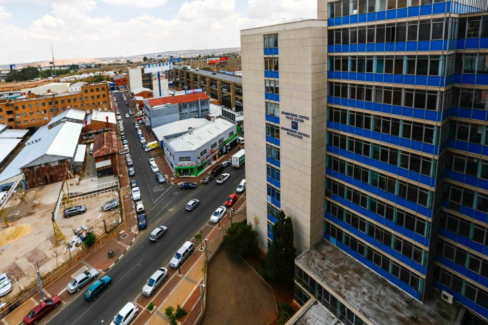 27 October 2015: The Johannesburg Central Police Station at which anti-apartheid activist Ahmed Timol died in 1971. The apartheid police covered up his murder, saying he jumped to his death from the 10th floor. (Photograph by Gallo Images/The Times/Moeletsi Mabe)