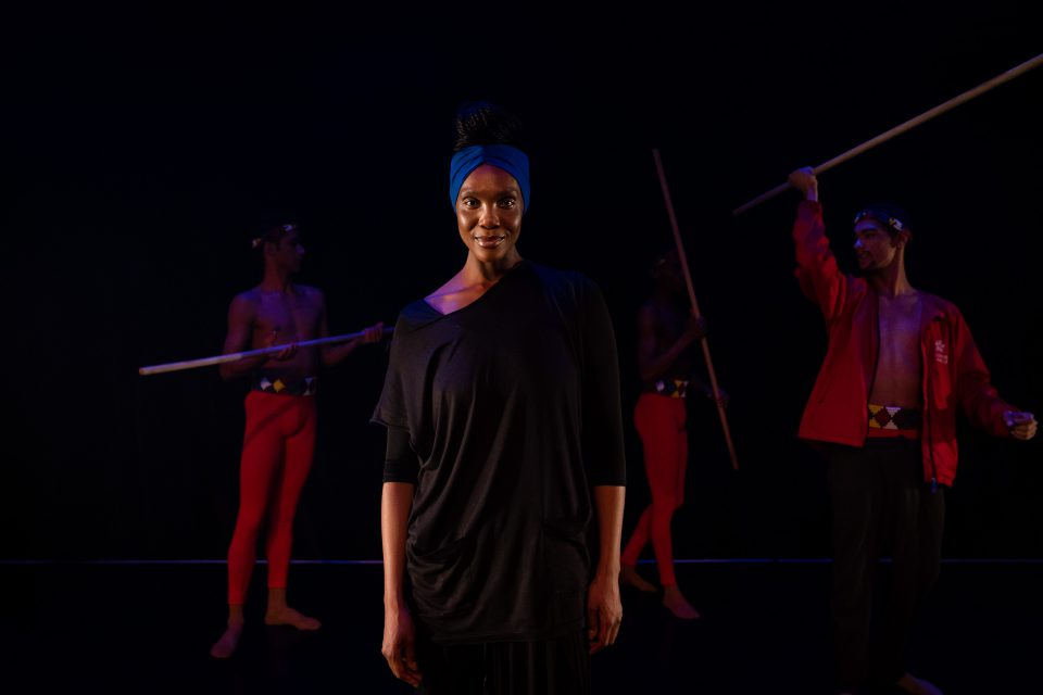 20 June 2019: Kitty Phetla with dancers from the company that will perform 'Wakanda' in Joburg in July.
