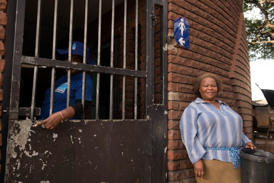 5 June 2019: Warwick vendor Dora Khumalo outside the often shut public toilet close to where she works.