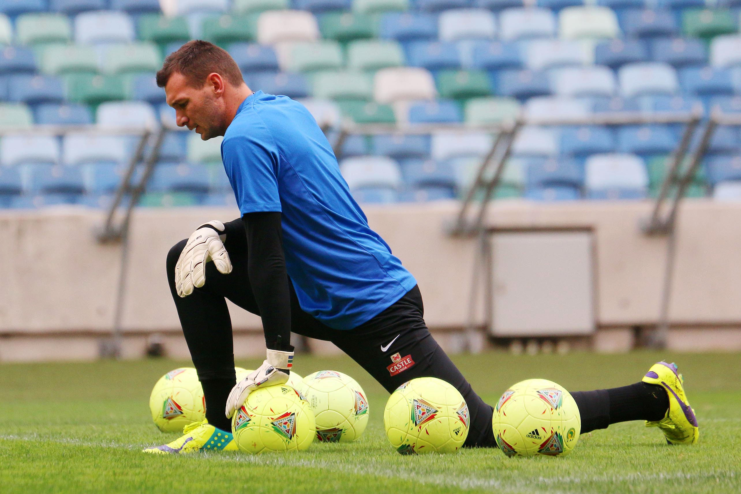 12 November 2014: Darren Keet during the Bafana Bafana training session at Moses Mabhida Stadium in Durban. (Photograph by Anesh Debiky/Gallo Images)