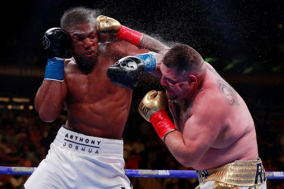 1 June 2019: Andy Ruiz Jr in the ring with Anthony Joshua in the match that could reignite world heavyweight boxing. (Photograph by Action Images via Reuters/Andrew Couldridge)