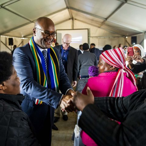 27 April 2019: Arts and Culture Minister Nathi Mthethwa in Brandfort, Free State. The government is refurbishing the home to which Winnie Madikizela-Mandela was banished during apartheid as a national heritage site. (Photograph by Gallo Images/Netwerk24/Deon Raath)