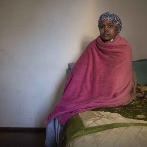 31 May 2019: Ethiopian refugee Alem Bazabe Ereselo at her home in the Johannesburg suburb of Yeoville. Diagnosed with kidney failure, Ereselo requires dialysis three times a week.