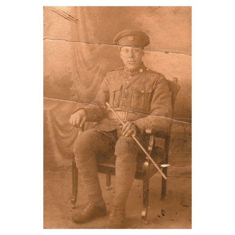 Circa 1917 or 1918: The only known photograph of Private Charlie Some, the only black South African to serve in the Canadian army during World War I. (Collection of Anthony Sherwood)