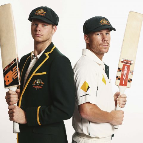 19 October 2015: Bad boys to be Steve Smith and David Warner of Australia pose in their baggy green caps a few years before their world was turned upside down by the Sandpapergate scandal. (Photograph by Ryan Pierse/Getty Images)