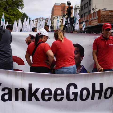 5 July 2019: A demonstration in Caracas on the 208th anniversary of the Venezuelan Declaration of Independence. The country is fighting a geopolitical war against global capital, with the United States at its head. (Photograph by Carolina Cabral/Getty Images)